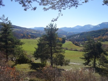 Depuis la Chapelle,  vue vers le Sud et la vallée de la Blanche