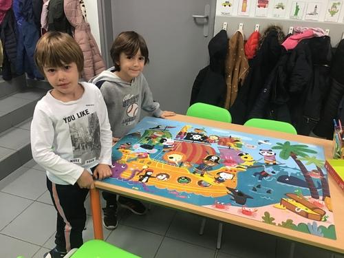 Puzzle géant et tour en Kappla