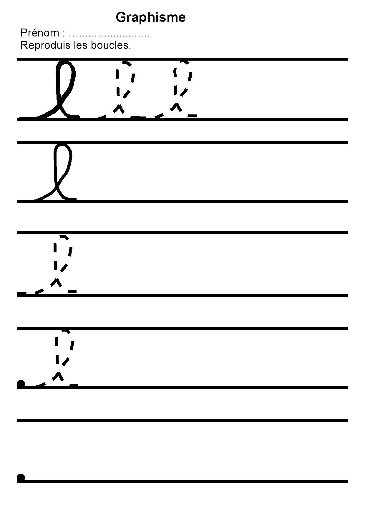 grande remise de style élégant en ligne maternelle graphisme 2,reproduire des boucles l,lettre l