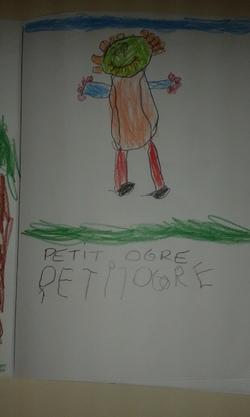 je dessine petit ogre
