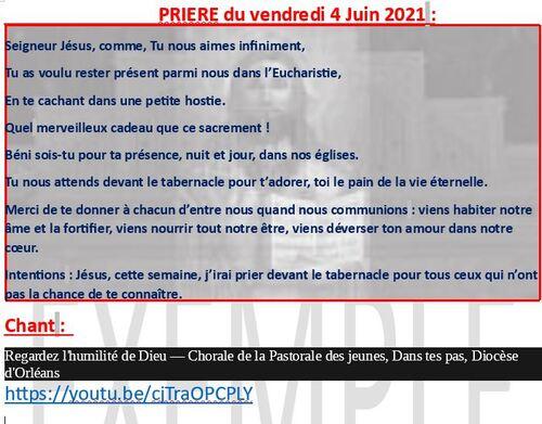 Prière du 11 juin