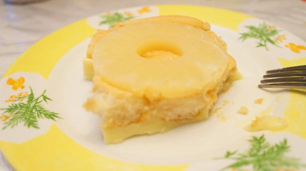 Recette: gâteau renversé à l'ananas.