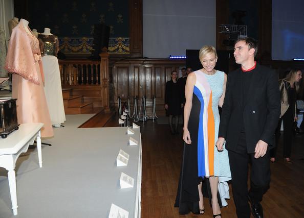 Charlène et Albert au cocktail Dior