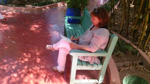 Marrakech,le bleu du jardin Majorelle