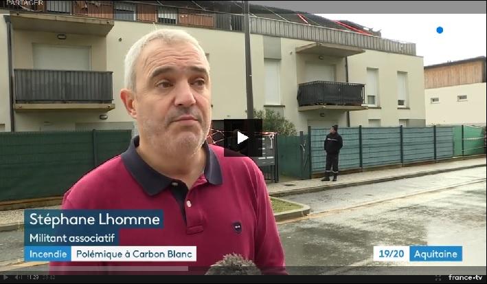 Carbon Blanc (33 ) : vingt logements détruits et dix-sept familles à reloger, un compteur linky serait à l'origine du départ de feu