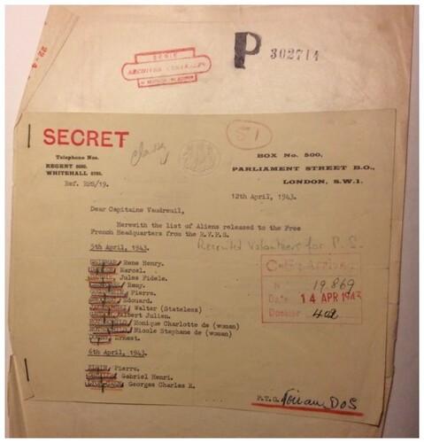 * Trésor d'archives - Le cheminement de Rémy Cescosse ancien du 1er Ra de la 1ère Division Française Libre de Pomarez à Londres  -   Décembre 1942 à Juillet 1943