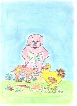 """""""Les Animots Rigolos"""".  Couverture d'1 livre - épisode 2"""