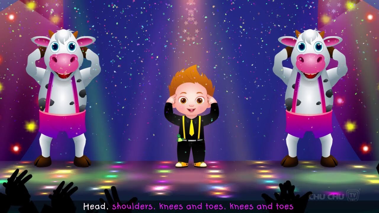 Head Shoulders Knees & Toes Dance Song Chuchu TV