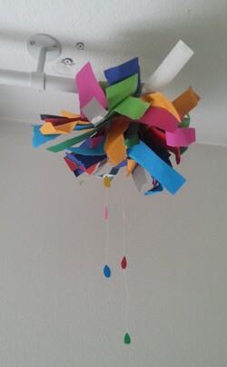 Réaliser un nuage de papiers colorés
