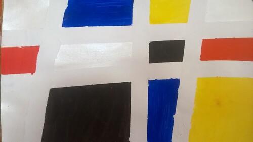 Piet Mondrian : des carrés et des rectangles