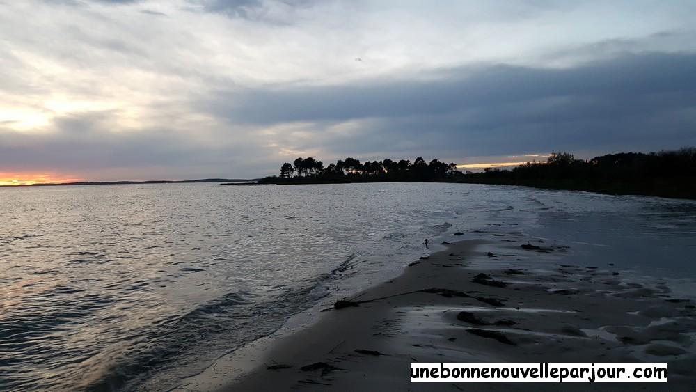 Coucher de soleil du 26 novembre, sur le Bassin d'Arcachon...