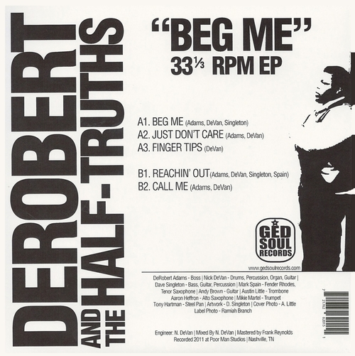 "DeRobert & The Half-Truths : CD "" Beg Me : The Singles & EP Collection 2009-2018 "" Soul Bag Records DP 116 [ FR ]"