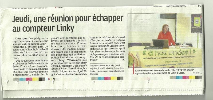 La Provence - Annonce pour la prochaine réunion du 25 juillet 2019