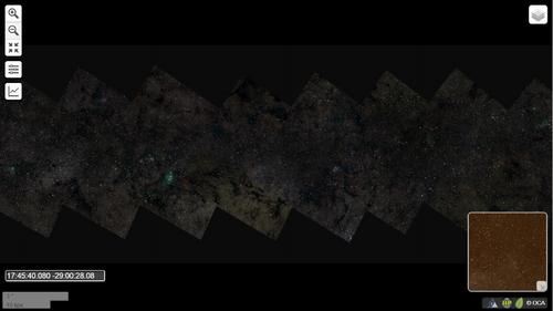 La voie lactée dans une photo de 194 giga-octets