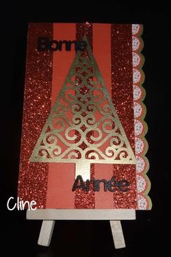 cartes de fin d'année, les petits noeuds et les paillettes...