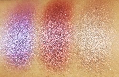 Swatch couleurs tsarina maquillage fards