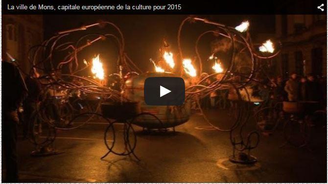 ♥♥ Installation de feu Mons 2015 ouverture Cie Carabosse Arts de la Rue.