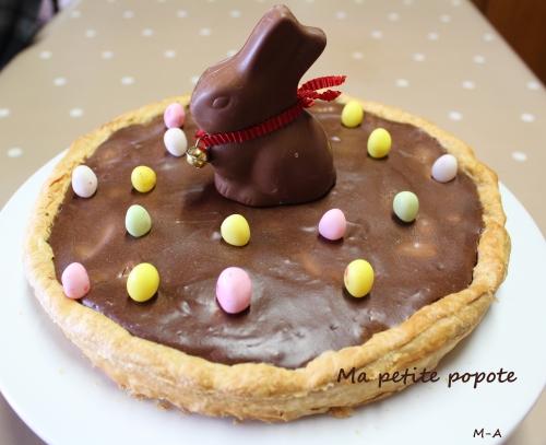 Tarte à la mousse au chocolat pour Pâques