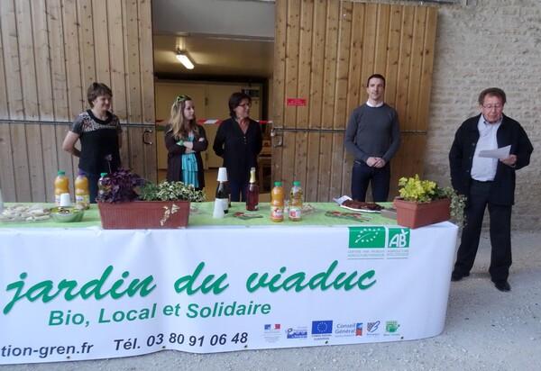 Inauguration de la chambre froide des Jardins du Viaduc à Sainte Colombe sur Seine