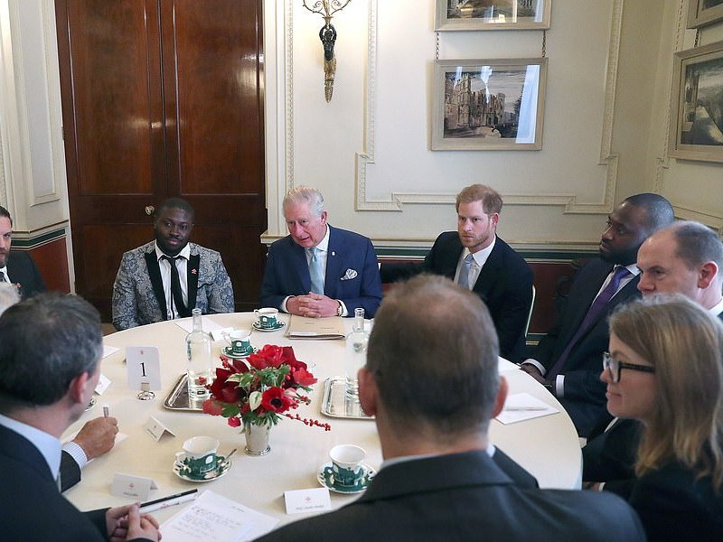 Discussion about violent youth crime at a forum held at Clarence House