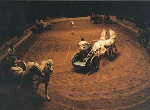 Ben Hur à l'Hippodrome Jean Richard de Paris en 1975 ( photo Charles Ichaï)