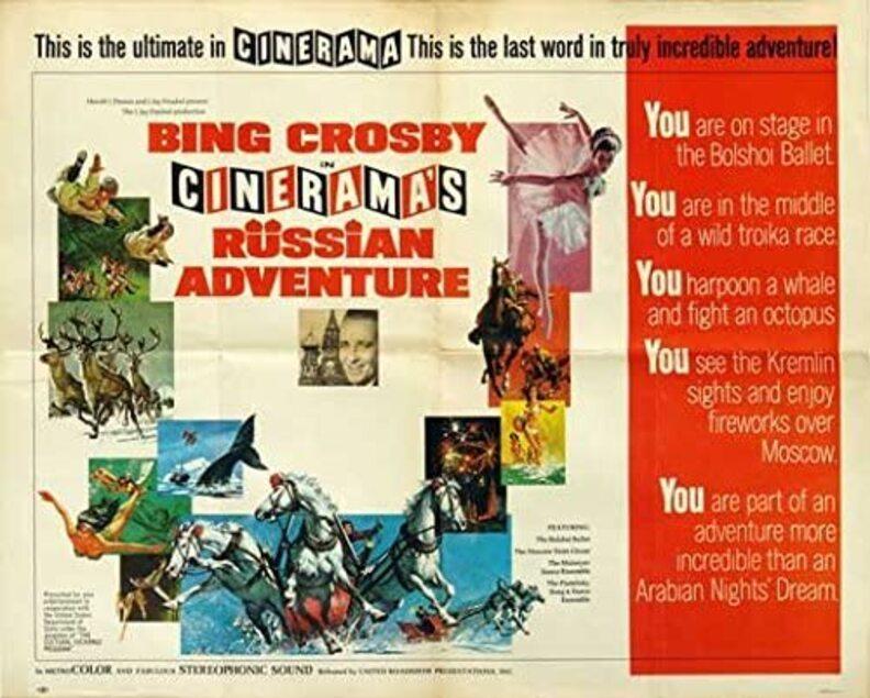 CINERAMA RUSSIAN ADVENTURE BOX OFFICE USA 1966