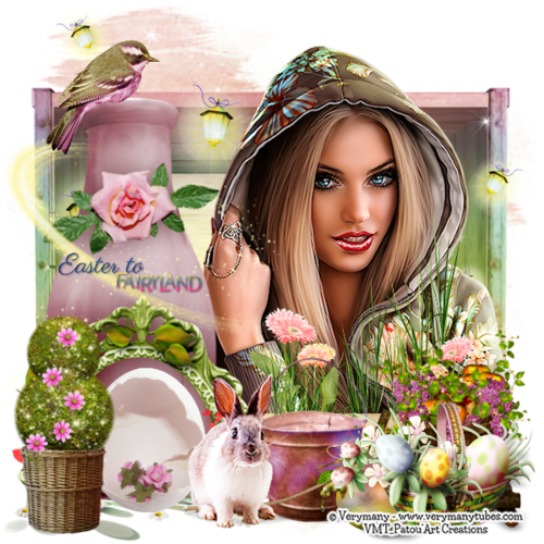 "CT Tag achieve with the PU kit ""Easter fairyland"" By EdelweissDesign (7 Tags)"
