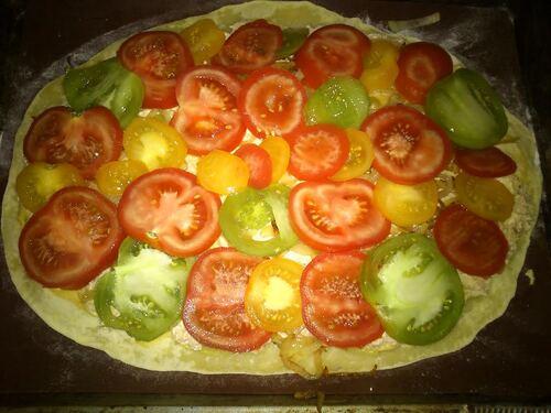 Une petite tarte Thon/tomate/oignon ...miam miam