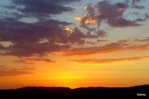 Barcarès: soleil couchant à l'étang ...