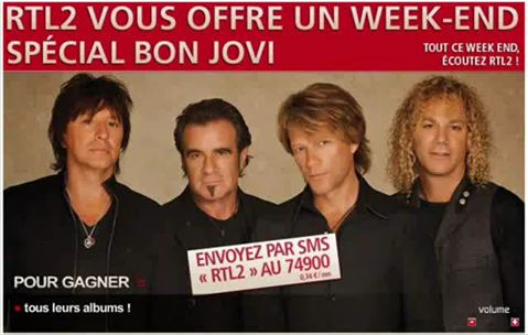 la saga de bonjovi sur RTL2 en 2011 mp3 2h d'émission en radio