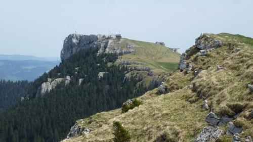 (CH)(VD) Dans le Jura Suisse, Le Chasseron (1607 m).