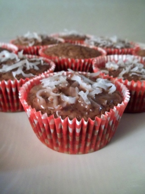 Mes Muffins choco-coco .