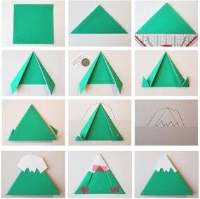 Как сделать горы из бумаги