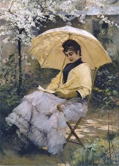 17 - Parapluie, ombrelles dans la peinture