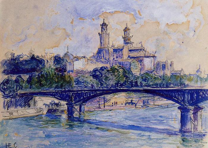 la Seine par le Trocadéro