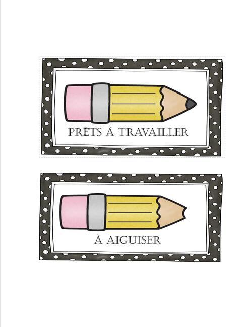 Étiquettes pour les pots de crayons