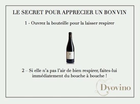 le secret pour apprécier un bon vin