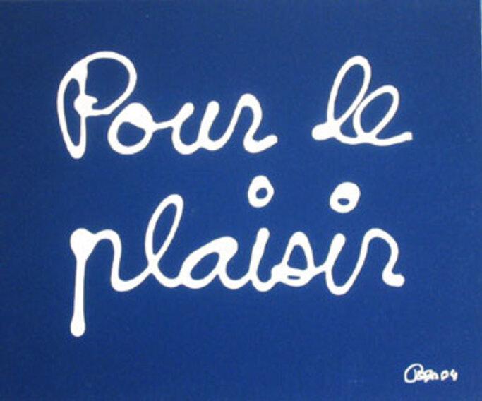 POUR LE PLAISIR SLOW (      )