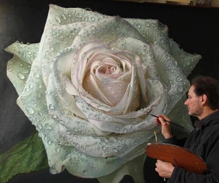 Mega Size Scintillating Hyper Realistic Peintures à l'huile de Gioacchino Passini