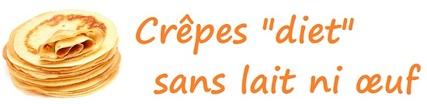 """Crêpes """"diet"""" sans lait ni œuf"""