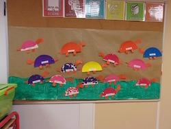 On a décoré la classe avec nos dinosaures