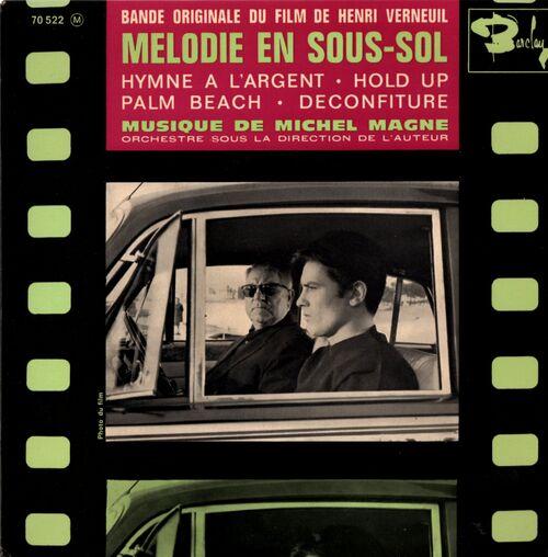 """MICHEL MAGNE """"MELODIE EN SOUS-SOL"""" © 1963 EP 70522 M"""