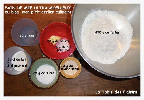 PAIN DE MIE ULTRA MOELLEUX