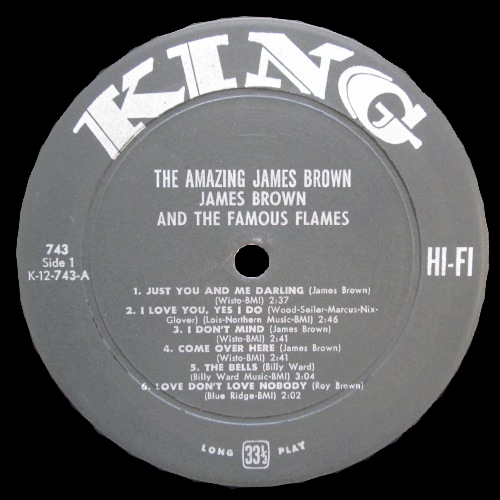 "1961 James Brown & The Famous Flames "" The Amazing James Brown "" King Records K 743 [ US ]"