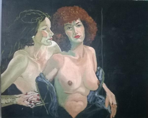 Dimanche - En cours : Peinture à l'huile, trois femmes (3)