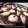 Tarte poires chocolat violette