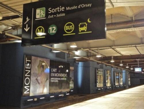 RER musée d'Orsay peinture Monet