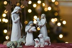Représentation de la Nativité.
