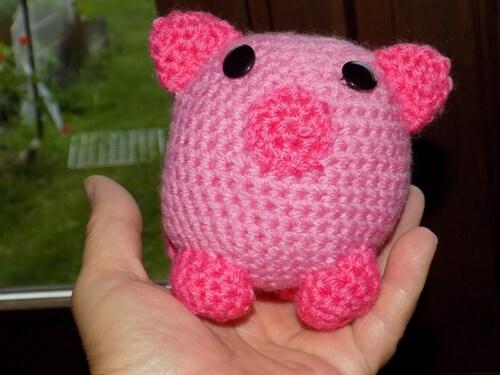Cochon tout rond, tout rose