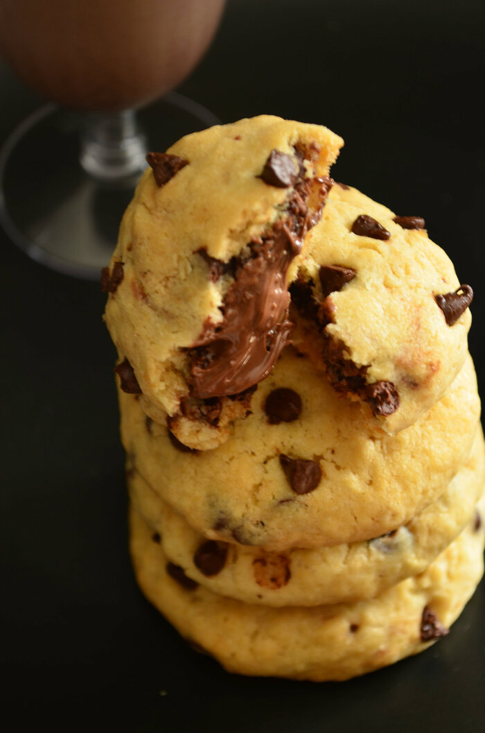 Cookies Coeur Fondant Nutella {Oatmeal & Chocolate Chip}
